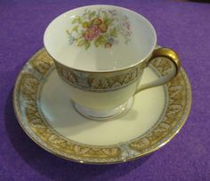 "Vintage Noritake China ""Claire"" Petite Cup & Saucer Set"