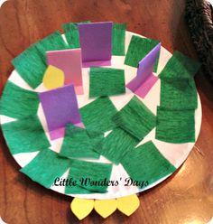 Advent wreath craft via Little Wonders' Days