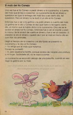 Libros de Primaria de los 80's: El maíz del tío Conejo - Español Lecturas 3er grado