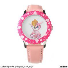 Cute baby sloth wristwatches