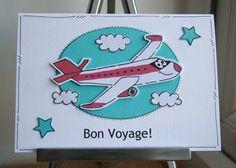 Bon Voyage! Airplane Card £2.25 by CraftyMushroom