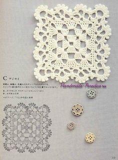 Photo from album Crochet Motif Patterns, Crochet Blocks, Granny Square Crochet Pattern, Crochet Diagram, Crochet Squares, Crochet Designs, Granny Square Häkelanleitung, Crochet Sunflower, Crochet Dollies