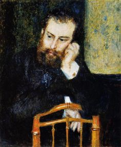 """""""Alfred Sisley"""", Pierre Auguste Renoir (1876), Art Institute of Chicago, Painting - oil on canvas"""