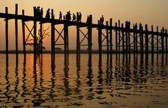 U-Bein bridge, Amarapura, Myanmar