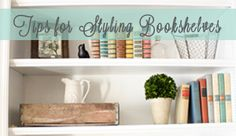 How To Decorate & Style Bookshelves - Megan Brooke Handmade No Sew Curtains, Drop Cloth Curtains, Bookshelves In Living Room, Bookcases, Old Kitchen Tables, Barn Bedrooms, Chicken Wire Frame, Diy Curtain Rods, Mascaras