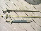 Confederate CS Star Short Artillery Sword With Wood Scabbard