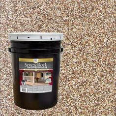 Add beauty to your outdoor concrete floors by using this SpreadRock Granite Stone Coating Flint Gray Satin Interior or Exterior Concrete Resurfacer and Sealer. Concrete Floor Coatings, Concrete Resurfacing, Concrete Sealer, Concrete Bricks, Concrete Stone, Granite Stone, Concrete Floors, Painting Concrete Patios, Patio Resurfacing Ideas