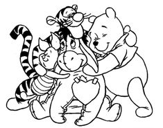 Winnie the Pooh coloring pages. Disney coloring pages. Coloring pages for kids. Thousands of free printable coloring pages for kids! Bear Coloring Pages, Cartoon Coloring Pages, Printable Coloring Pages, Free Coloring, Adult Coloring Pages, Coloring Pages For Kids, Coloring Books, Kids Coloring, Disney Coloring Sheets