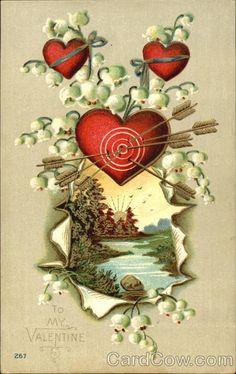 Heart with bullseye and arrows Hearts