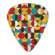 Vibrant Half Circle pattern Pearl Celluloid Guitar Pick - patterns pattern special unique design gift idea diy