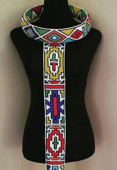 This item is unavailable Latest African Fashion Dresses, African Print Dresses, African Print Fashion, African Dress, Xhosa Attire, African Attire, African Beads Necklace, African Jewelry, Beaded Jewelry