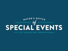 Mayor's Office of Special Events Logo by Derek Hollister