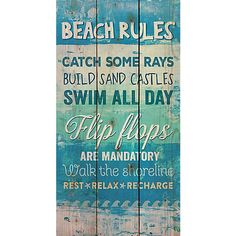 P. Graham Dunn sells expertly-carved home accents for all to enjoy. This wood slat wall decoration features a colorful beach-inspired design. Add a splash of beachy fun to your home. Measures 11W x 20''H.
