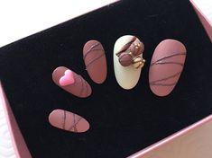 Chocolate   3D nail art    Full cover nail   Handmade nail    Nail artist   Nail design   Fake nail   Express press on nail  Valentine's Day