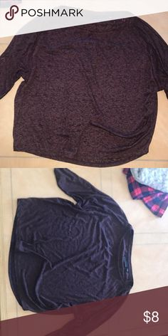 Cute top S Purple top, light weight and loose. It's cute with jeans. Also cute with a jacket over. It's purple and black stitched and soft, all offers welcomed and all bundles encouraged Tops Blouses