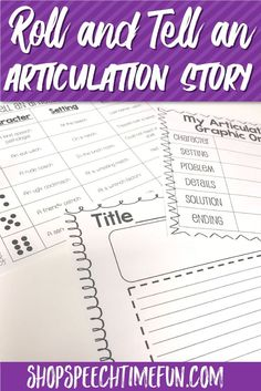 Help your older speech and language students practice their articulation sounds and work on carryover with this no prep pack perfect for mixed speech therapy groups. Work on written expression and storytelling too and have fun! Roll and tell an articulation story!