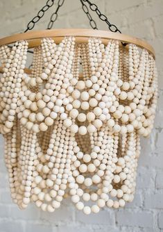 DIY Bead Chandelier - The House That Lars Built