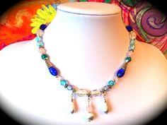 """Diese Halskette habe ich extra für die Aktion KunstRaub Nr.4 - *WinterMärchen* - angefertigt. Es geht um die *""""Schneekönigin"""" von Hans-Christian An..."""