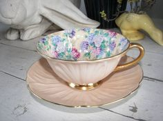 Vintage Shelley Tea Cup and Saucer Summer Glory in by WinkandMe, $150.00