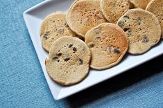 *Mini Mocha Chip Pancakes: - Whole Wheat Pastry Flour - Baking powder - Instant coffee - Salt - Eggs - Milk - Canola Oil - Vanilla - Cinnamon - Chocolate Chips