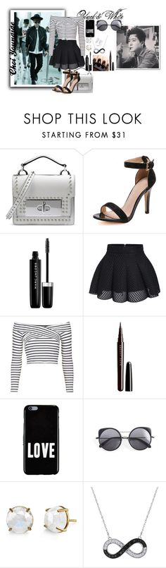 """Black and White: Choi Youngjae"" by ladyd-143 ❤ liked on Polyvore featuring Marc Jacobs, Topshop, Givenchy, Wood Wood, Irene Neuwirth, blackandwhite, youngjae, GOT7 and choiyoungjae"