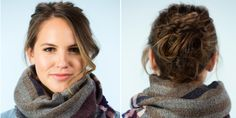 6 Super-Easy Hairstyles to Wear With Scarves They won't leave you a knotted mess. Promise #beauty #hairstyle http://www.cosmopolitan.com/style-beauty/beauty/a4757777/6-super-easy-hairstyles-to-wear-with-scarves/