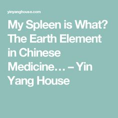 My Spleen is What? The Earth Element in Chinese Medicine… – Yin Yang House