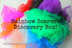 "The Imagination Tree: Discovery Box 14: Rainbow Scarves - ""circus"" scarves are cheaper"