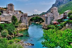 16th Century Ottoman Bridge in Mostar, Bosnia and Herzegovina