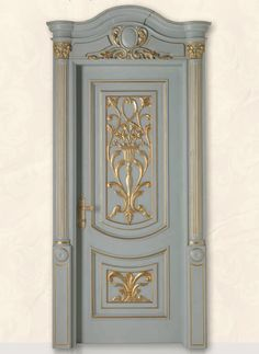 LUIGI XVI 4014/QQ/INT frame Luigi, casing with cyma LUIGI XVI type A, lacquered shaded blue with gold topcoat Luigi XVI© Classic Wood Interior Doors | Italian Luxury Interior Doors | New Design Porte Emotions