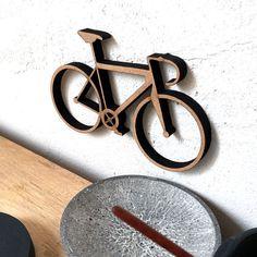 Rennrad - Holzgrafik - 3D Wanddeko