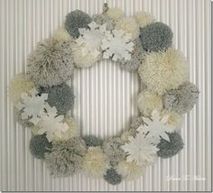Winter wreath--White