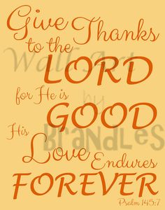 Give Thanks to the Lord Art - Christian Art - Scripture Art