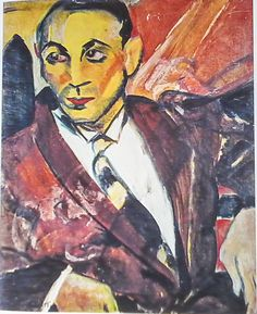 """The Yellow Man (in Portuguese: """"O Homem Amarelo""""), Anita Malfatti, Brazil, 1915-1916. Anita Malfatti (1889-1964), Brazilian painter. Anita was one of the first painters to express in Brazil modern ..."""
