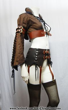 ***READY TO SHIP***  This listing is for a hooded bolero jacket The belts are made from real leather and it will fit a 70cm to 80cm waist.