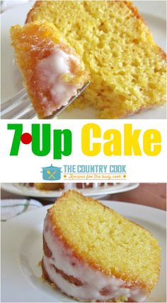 7Up Cake recipe from The Country Cook is a soft, spongy cake that has a lemony flavor and the most amazing icing drizzled on top!
