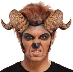 Create A Terrifying Beast By Adding These Twisted Horns To Your Halloween Costume. Accessory Includes Two Twisted Soft Foam Horns That Are On A Clear Elastic Headband. Comfortable, Easy To Wear And The Perfect Finishing Touch To A Beast Costume! Halloween Club, Trendy Halloween, Adult Halloween, Vintage Halloween, Vintage Witch, Halloween Halloween, Halloween Makeup, Disney Belle Costume, Disney Costumes