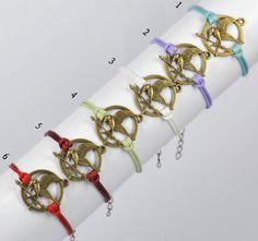 HUNGER GAMES bracelet--27Colors---inspired mockingjay bracelet --Wax Cords Bracelet--Best Chosen Gift--B203 on Etsy, $1.99