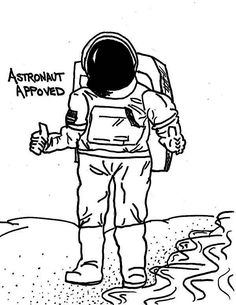 A Drawing Of An Astronaut In The Moon Surface Coloring Page - Download & Print Online Coloring Pages for Free   Color Nimbus Moon Surface, Online Coloring Pages, Colour Images, Free Coloring, Coloring Sheets, Astronaut, Drawings, Fictional Characters, Children