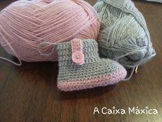 A CAIXA Maxica: TUTORIAL booties BABY WITH BUTTON