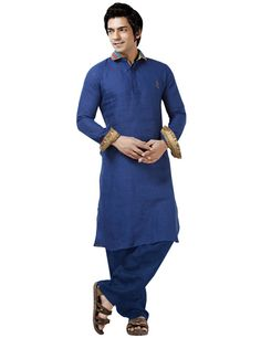 Blue suits everyone. And when it comes with one of the most comfy fabric i.e. Linen, This Pathani Suit indicates perfection. Visit us at www.g3fashions.in to view more options. Product code - G3-MPS0060 Price - ₹ 5,410.00
