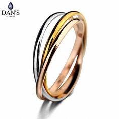 DAN'S New Sale Dan's Element    Rings for Women Enviromental tricyclic Three Colors ring #RG93048 #Affiliate