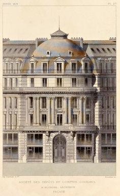 Elevation of the Société des Dépôts et Comptes Courants, Paris