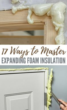 17 Ways to Master Expanding Foam Insulation Nows the time to work on insulating your home before the temperatures dip down too low Insulating gaps now is one of the best. Expanding Foam Insulation, Home Insulation, Spray Foam Insulation, Home Improvement Projects, Home Projects, Home Renovation, Home Remodeling, Remodeling Contractors, Crafts