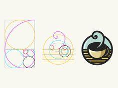 Dribbble - Golden Ratio Coffee Shop Logo by Suhandi Logo Inspiration, Brand Identity Design, Branding Design, Gfx Design, Coffee Shop Logo, Design Theory, Circle Logos, Great Logos, Geometric Logo