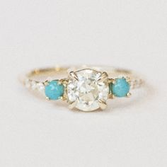 turquoise engagement ring - Google Search