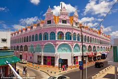 Aruba - The capital city of Oranjestad is home to many grand Dutch-style buildings in a myriad of beautiful colors