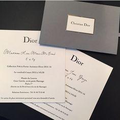 Dior fashion show invitation