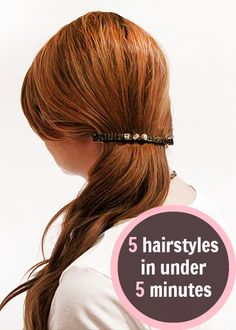 Hair Tutorials : Picture Description 5 Side-Swept Hairstyles You Can Do In Under 5 Minutes // love these 'dos! Side Swept Hairstyles, Dress Hairstyles, Modern Hairstyles, Easy Hairstyles, Hairstyle Ideas, Beauty Tips For Hair, Beauty Hacks, Hair Beauty, Beauty 101