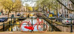 The Dutch capital is one of the best loved in Europe. With a plethora of museums and delicious food, there is plenty to do in your 24 hours in Amsterdam. Amsterdam Bike, Amsterdam Travel, Dutch, Cruise, Swag, Europe, Vacation, Cruises, Vacations